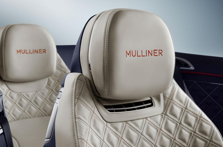 Bentley Continental GT Mulliner Convertible headrest