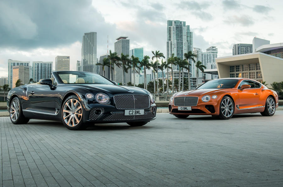 Bentley Continental GT and GTC press hero front