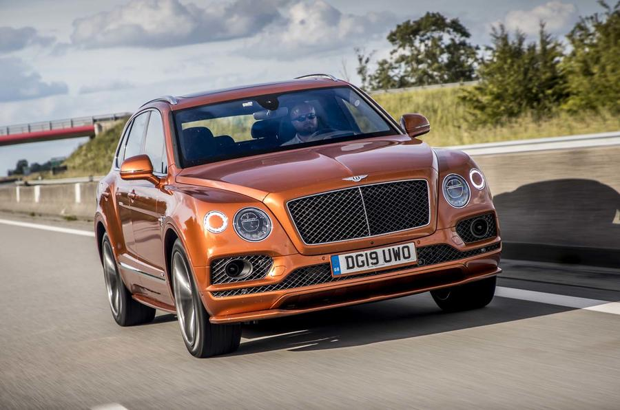 Bentley Bentayga on motorway