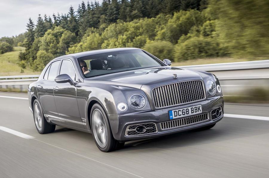Bentley Mulsanne on motorway