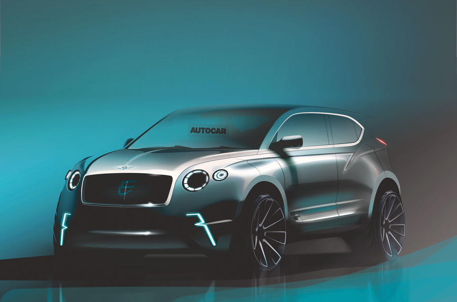 Bentley electric crossover render