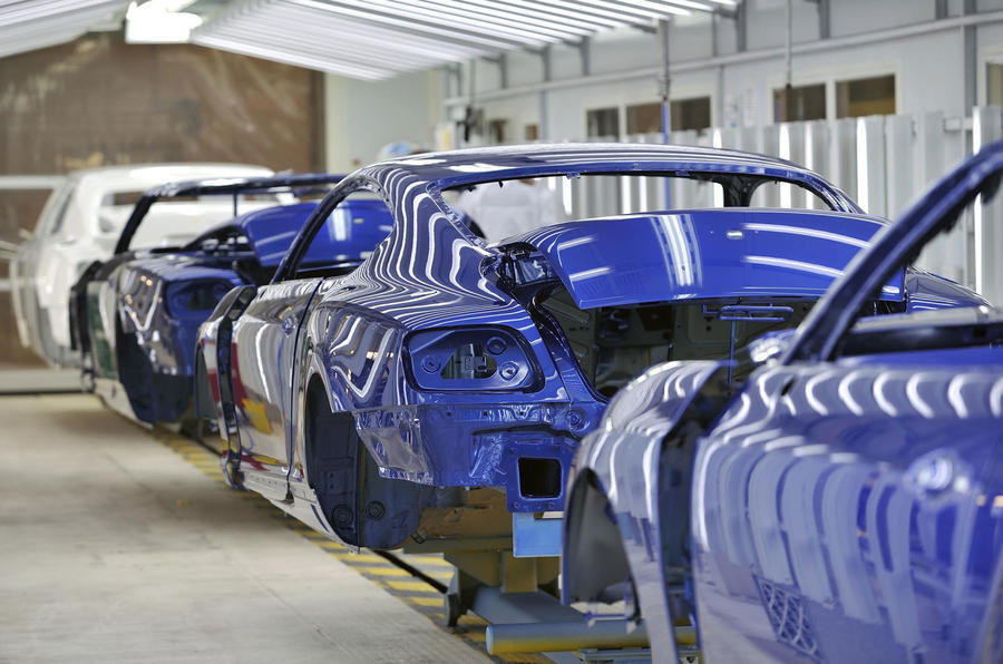 Bentley production line