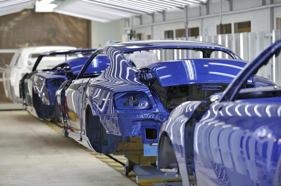 Bentley production line