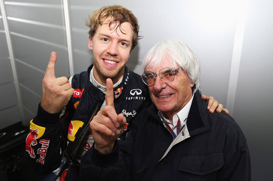Bernie with Vettel