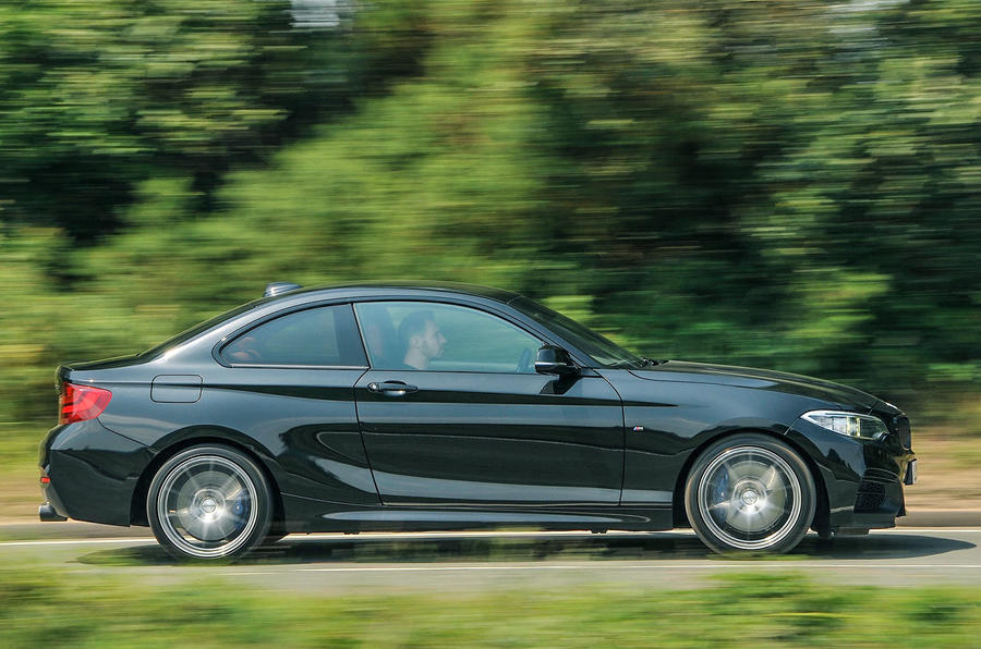 Birds BMW M235i side profile