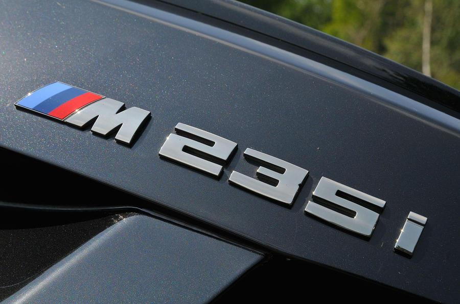 Birds BMW M235i boot badging