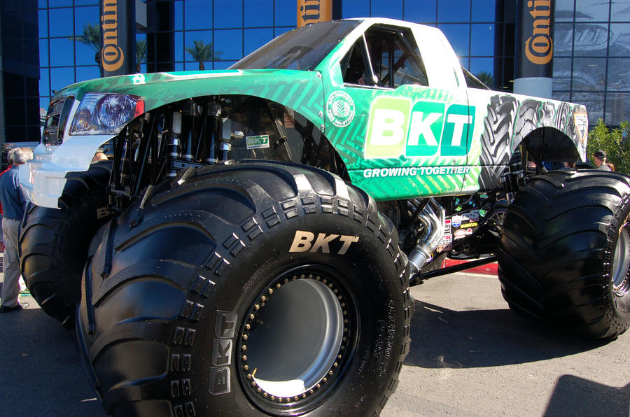 No SEMA show is complete without a monster truck. Tyre company BKT supplies the tyres to Monster Jam competitors