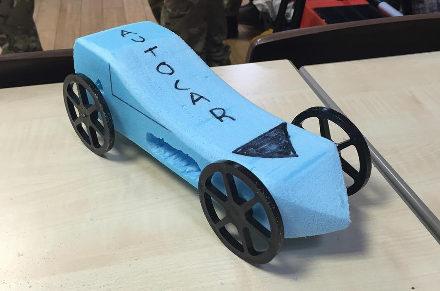 Autocar's rocket car