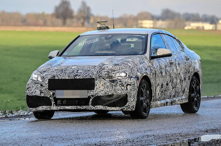 BMW 2 Series Gran Coupe spy shot front three quarter