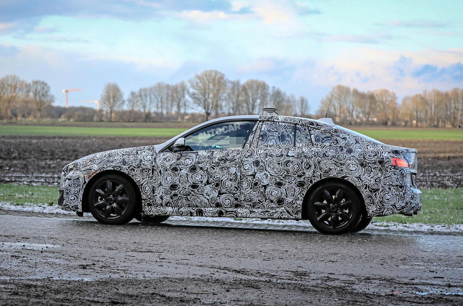 BMW 2 Series Gran Coupe spy shot side