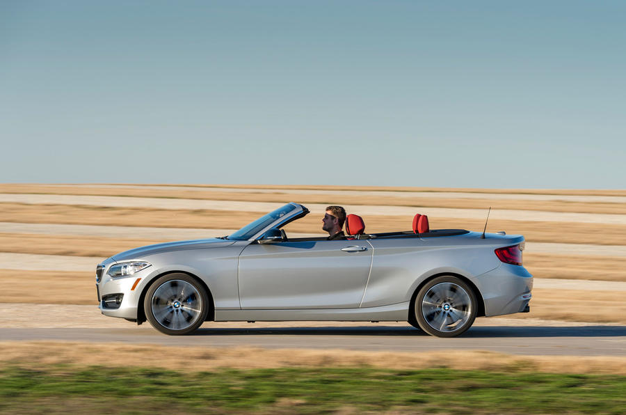 BMW 2 Series Convertible roof down