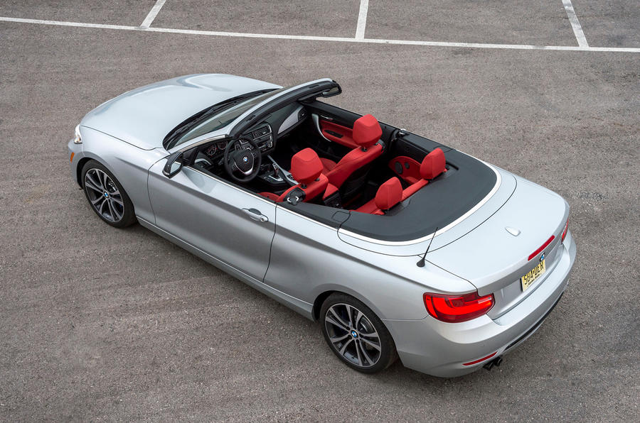 BMW 228i Convertible roof down