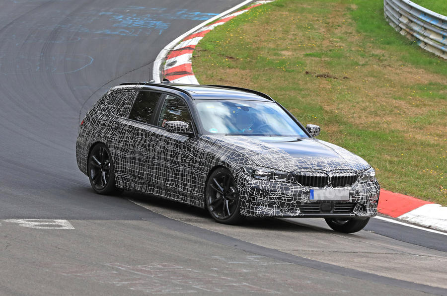 BMW 3-series Touring Nurburgring testing