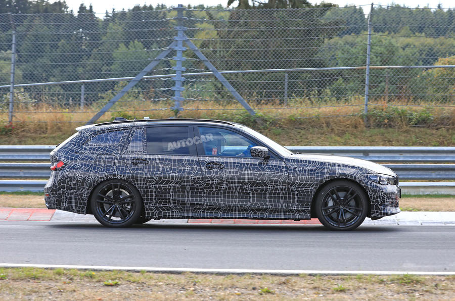 new 2019 bmw 3 series previewed ahead of official reveal autocar. Black Bedroom Furniture Sets. Home Design Ideas