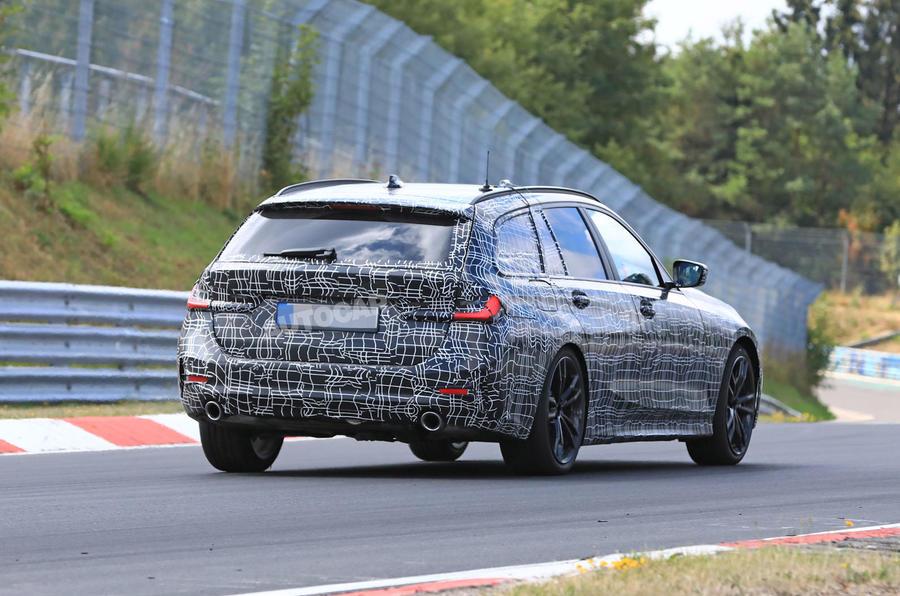 BMW 3-series Touring Nurburgring testing rear corner