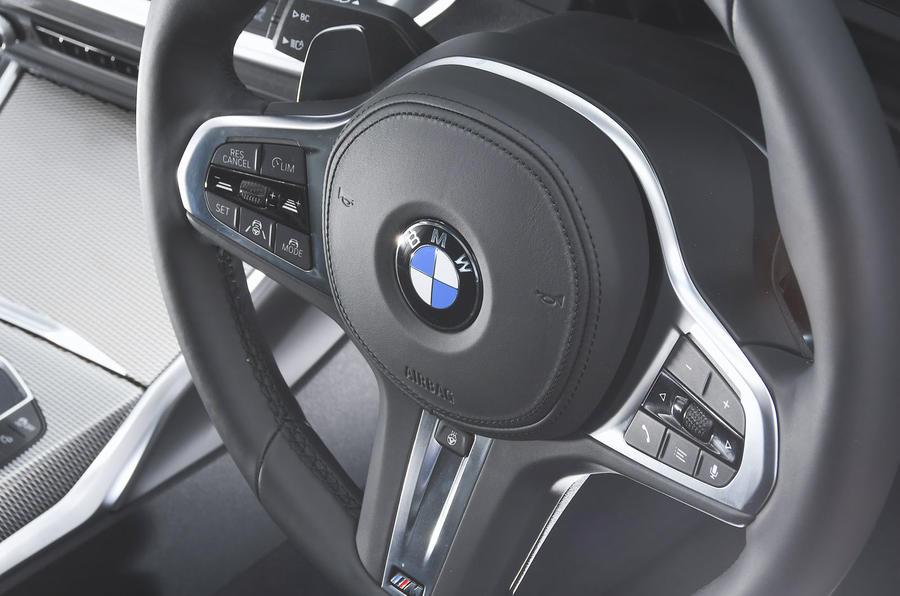 2019 BMW 330d UK review - steering wheel