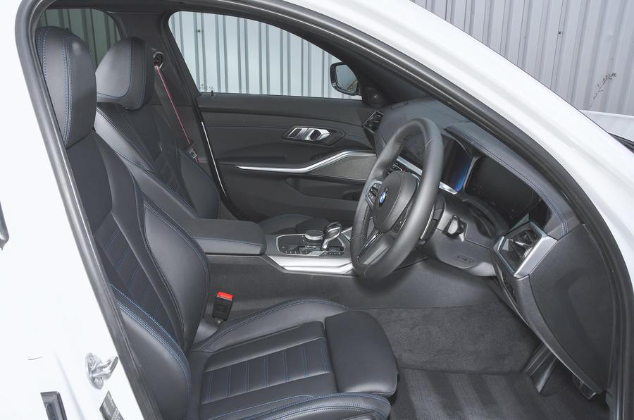 2019 BMW 330d UK review - front seats