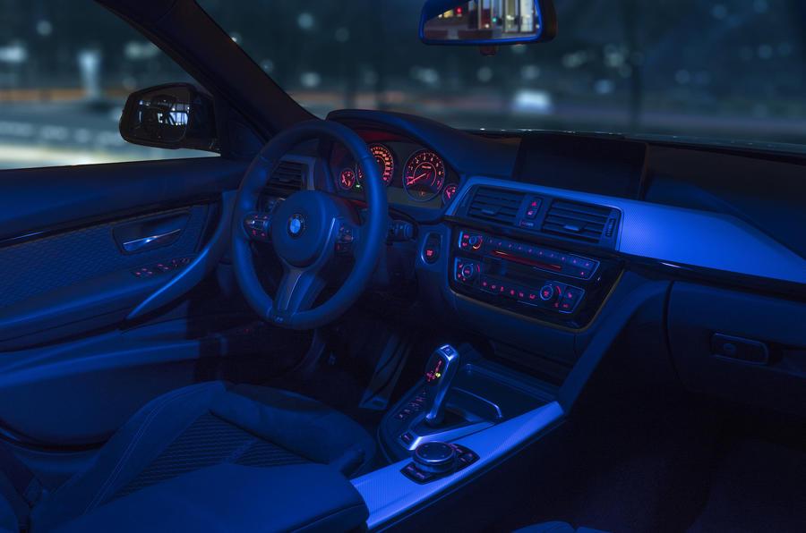 BMW 330e interior mood lighting