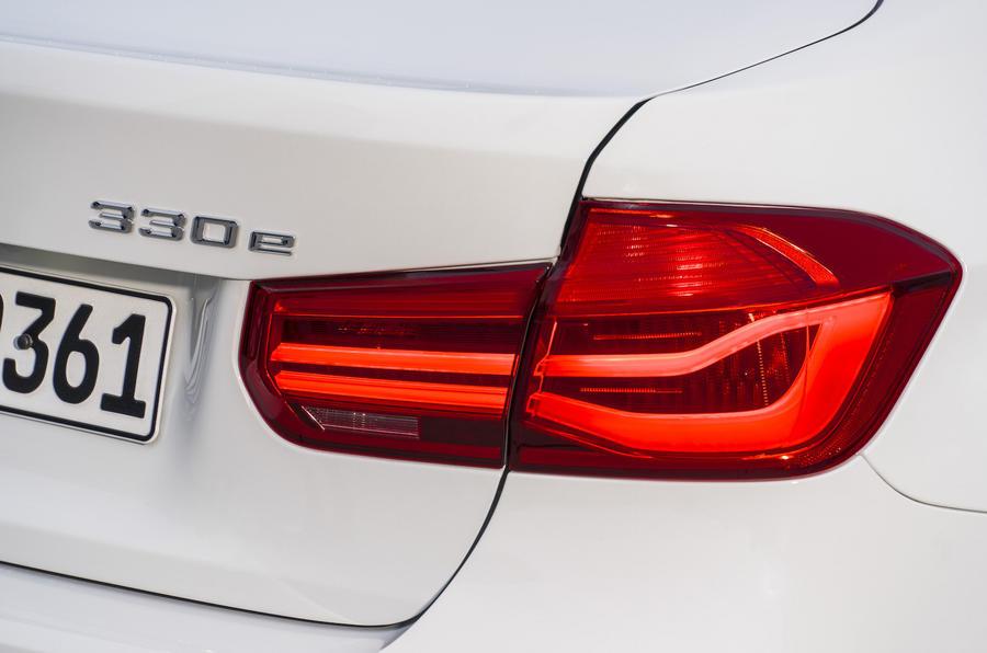 BMW 330e rear lights