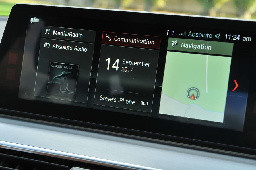 BMW 5 Series iDrive infotainment system