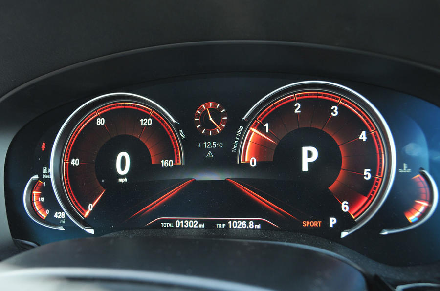 BMW 5 Series virtual instrument cluster
