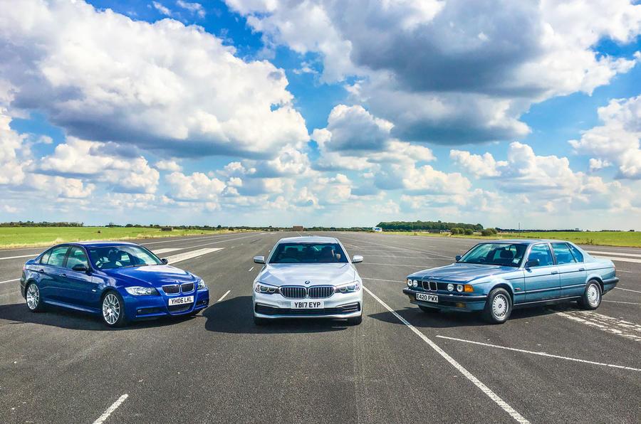 BMW 5 Series meets its predecessors