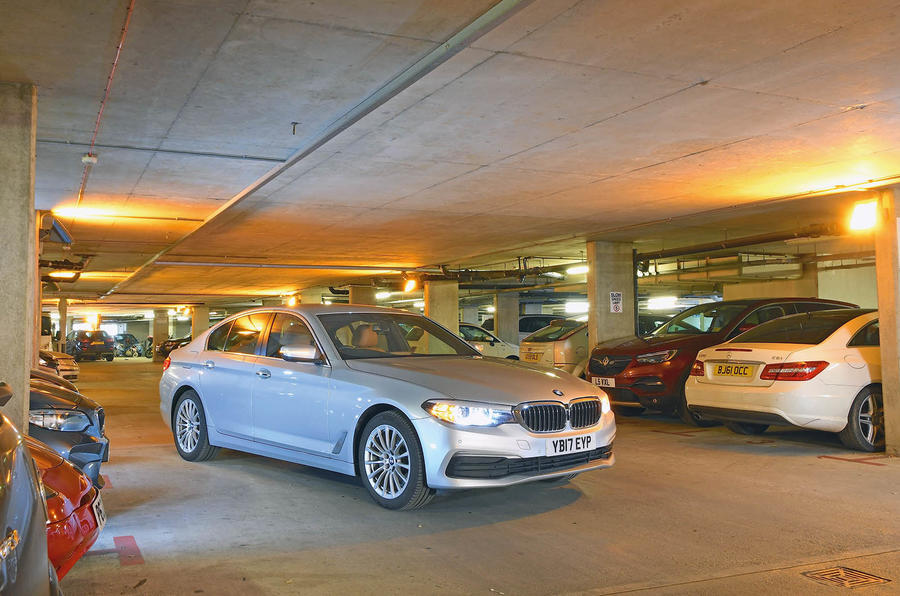 BMW 5-series 520d longterm review car park
