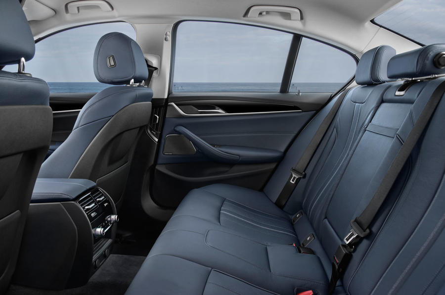 BMW 530e Performance rear seats
