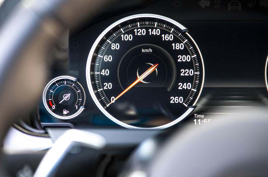 BMW 6 Series speed counter