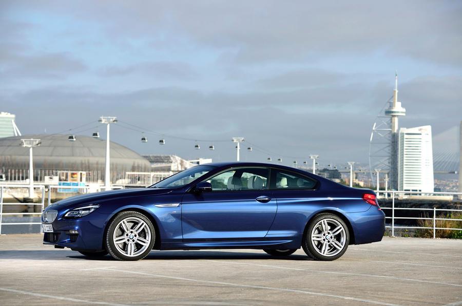 BMW 650i Coupé side profile