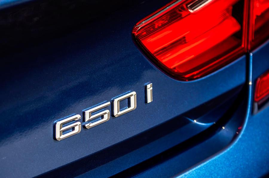BMW 650i badging