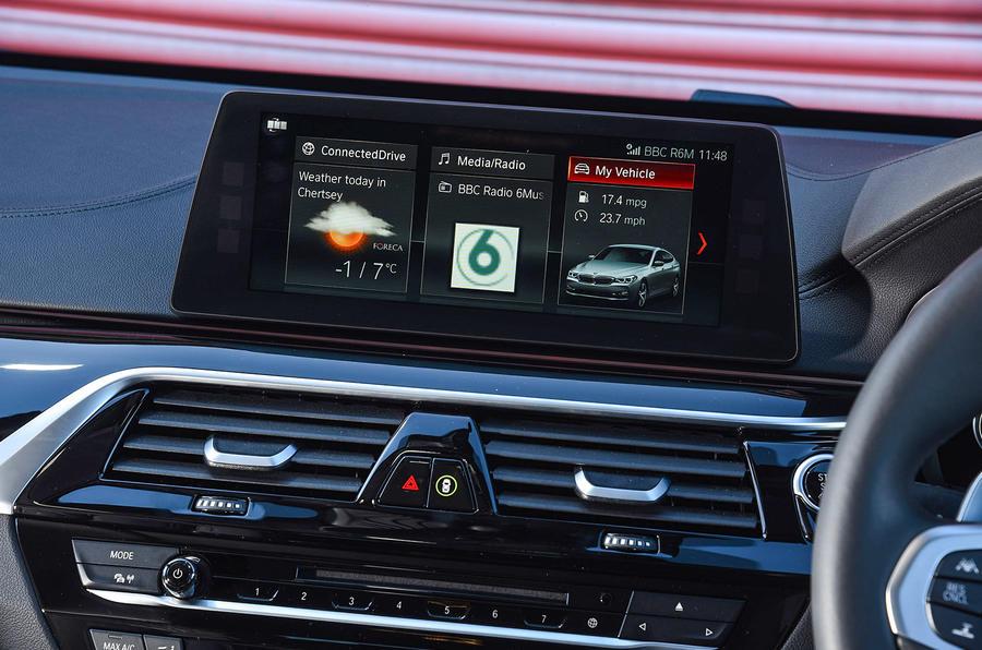 BMW 6 Series Gran Turismo infotainment