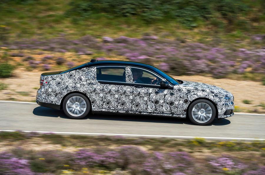 BMW 7 Series prototype side profile