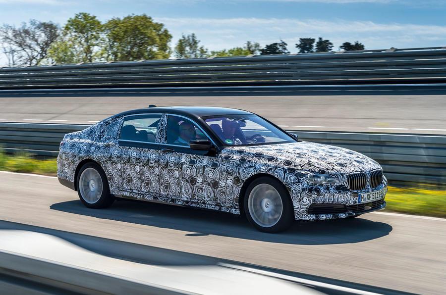 BMW 740iL prototype front quarter