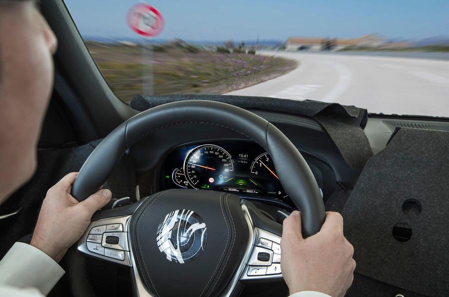 BMW 7 Series steering wheel