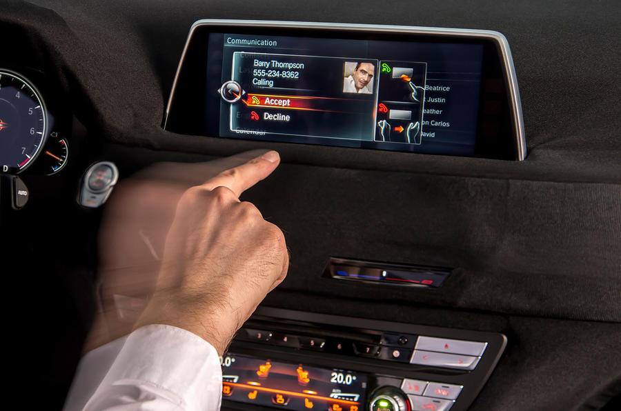 BMW 740iL iDrive infotainment system