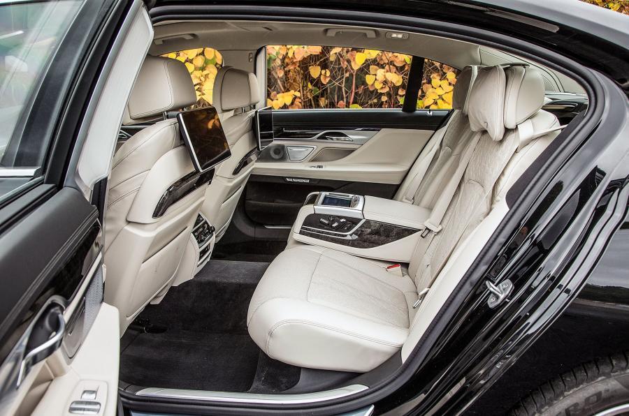BMW 740 Le xDrive rear seats