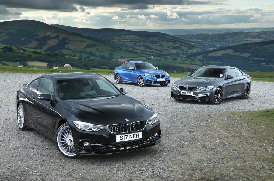BMW M4 versus Alpina B4 & BMW M235i