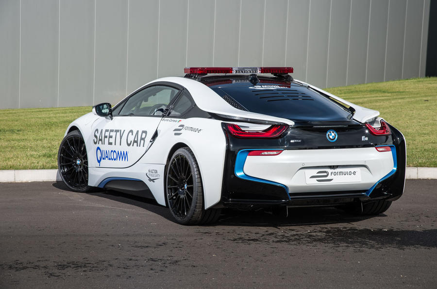 formula e 39 s bmw i8 safety car driven on track autocar. Black Bedroom Furniture Sets. Home Design Ideas