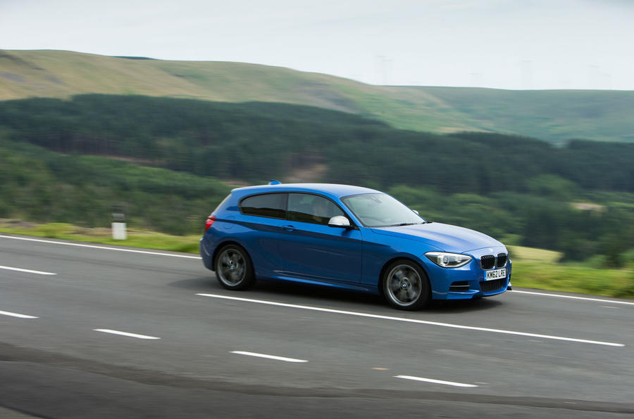 Used BMW M135i on the road