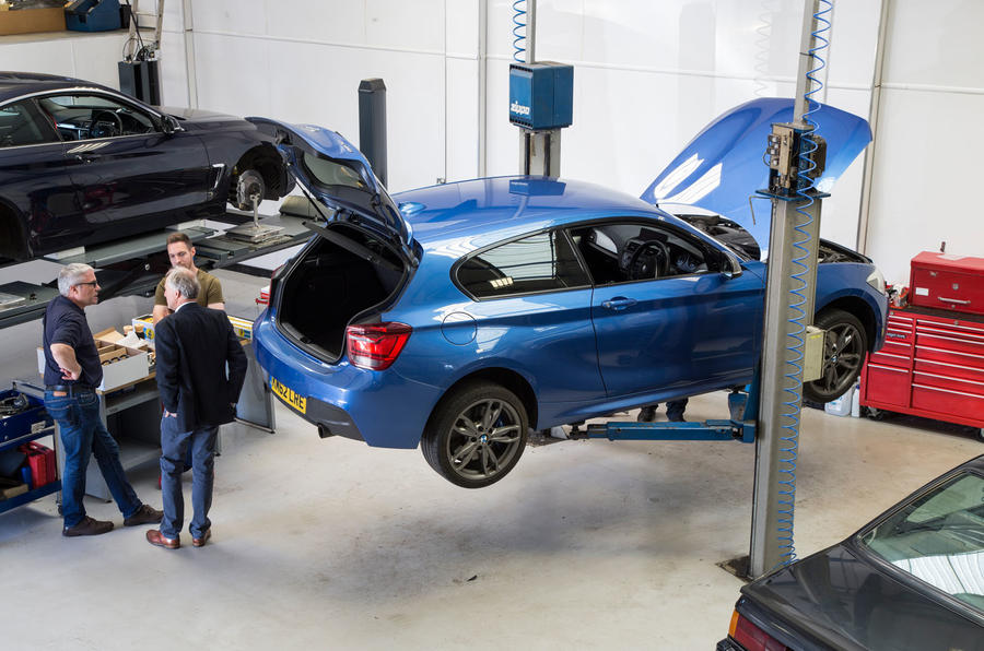 Used BMW M135i up on the ramp