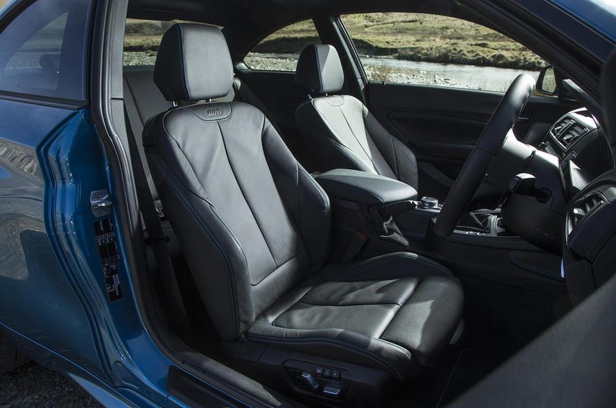 BMW M2 front sport seats