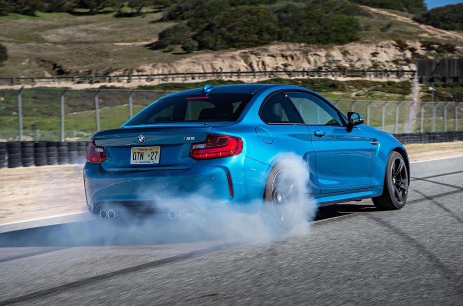 BMW M2 rear drifting
