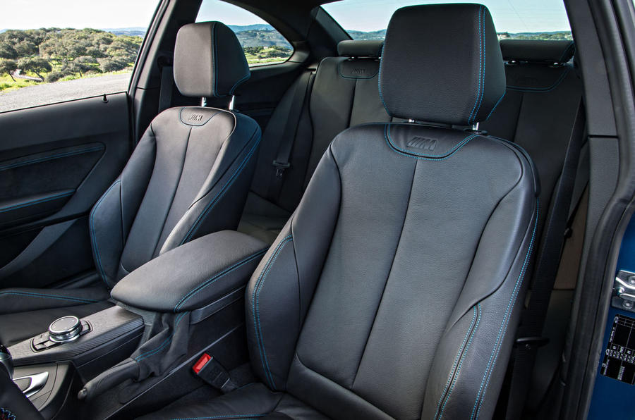 BMW M2 front leather seats