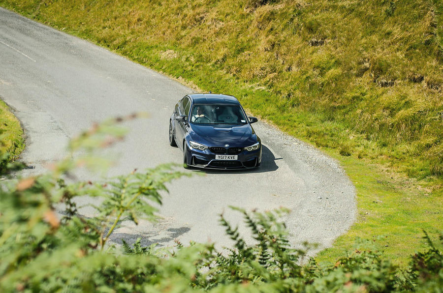 BMW M3 cornering