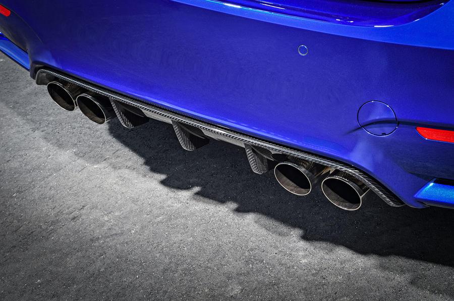 BMW M4 CS quad exhaust