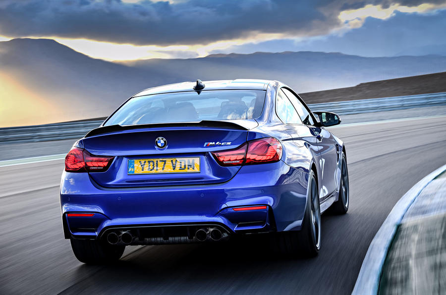 BMW M4 CS rear cornering