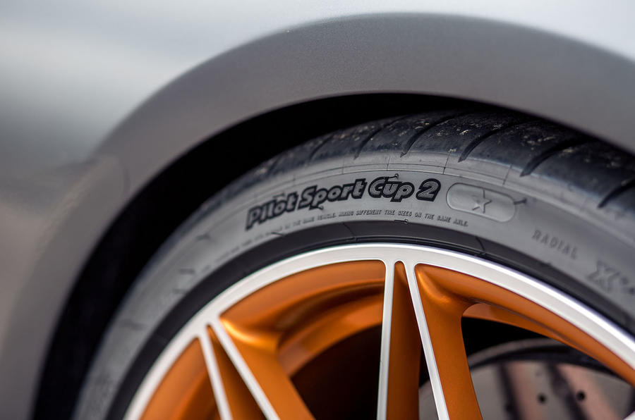 Low-profile BMW M4 GTS tyres
