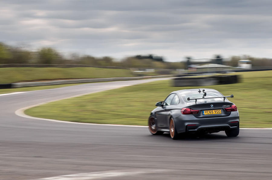 BMW M4 GTS rear cornering