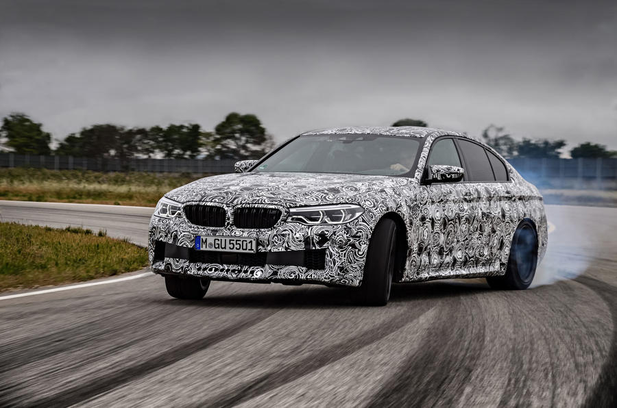 2018 BMW M5 Prototype Wheel Spin Track